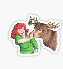 Christmas Fun with Lily and Prongs Sticker