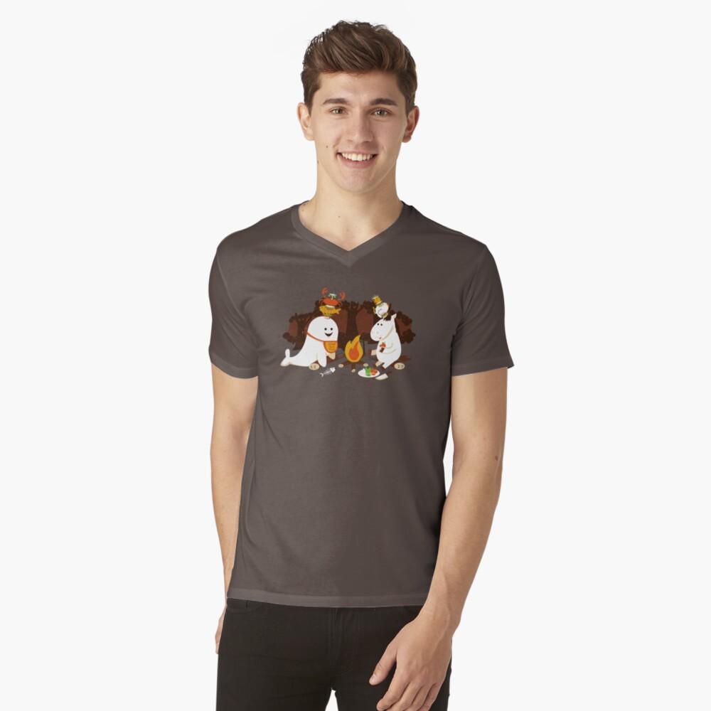 Horn Kabobs V-Neck T-Shirt