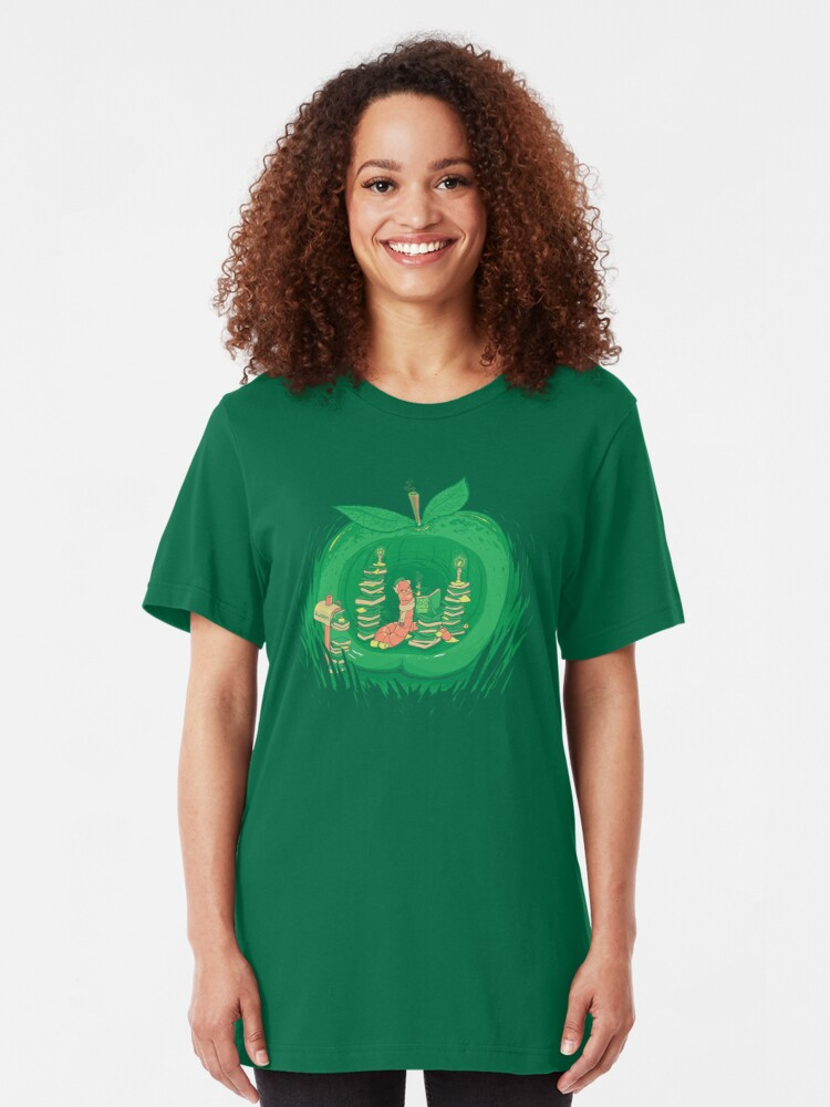 Alternate view of The Bookworm's Haven Slim Fit T-Shirt