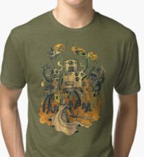 The Robots Come Out At Knight Tri-blend T-Shirt