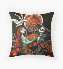 Jack und Sally Pumpkin Patch Dekokissen