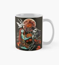 Taza clásica Jack y Sally Pumpkin Patch