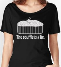 Doctor Who Portal the Souffle is a lie white Women's Relaxed Fit T-Shirt
