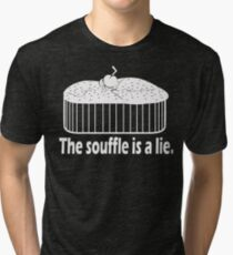 Doctor Who Portal the Souffle is a lie white Tri-blend T-Shirt