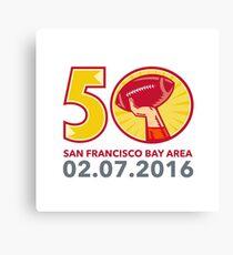50 Pro Football Championship Sunday 2016 Canvas Print