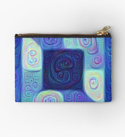 DeepDream Color Squares Visual Areas 5x5K v15 Zipper Pouch