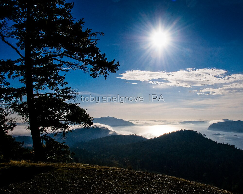 Fog Over Plumper Sound, Mayne Island by toby snelgrove  IPA