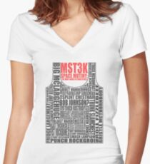 MST3K: The many names of David Ryder Women's Fitted V-Neck T-Shirt