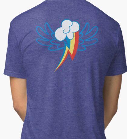 Rainbow Dash Cutie Wings Tri-blend T-Shirt