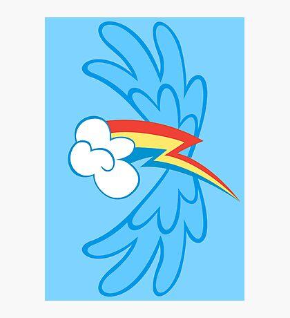 Rainbow Dash Cutie Wings Photographic Print