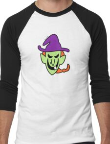 Naughty Halloween Witch Men's Baseball ¾ T-Shirt