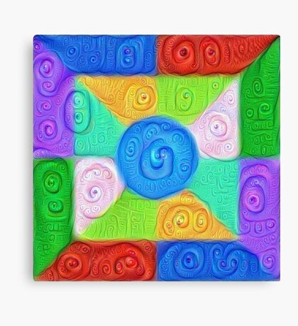 DeepDream Color Squares Visual Areas 5x5K v17 Canvas Print