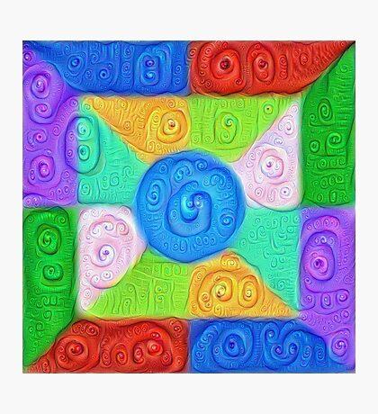 DeepDream Color Squares Visual Areas 5x5K v17 Photographic Print
