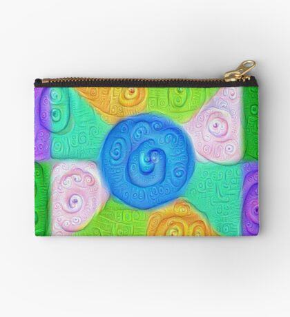 DeepDream Color Squares Visual Areas 5x5K v17 Zipper Pouch