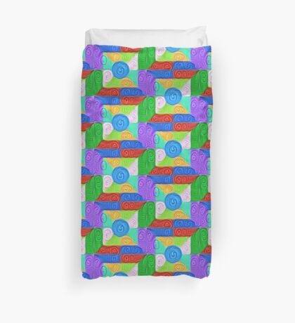 DeepDream Color Squares Visual Areas 5x5K v17 Duvet Cover