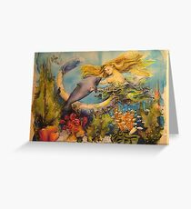 swimming with mermaids Greeting Card