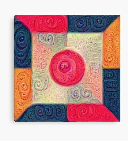 DeepDream Color Squares Visual Areas 5x5K v18 Canvas Print