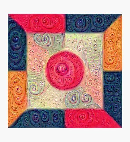 DeepDream Color Squares Visual Areas 5x5K v18 Photographic Print