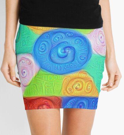 DeepDream Color Squares Visual Areas 5x5K v17 Mini Skirt