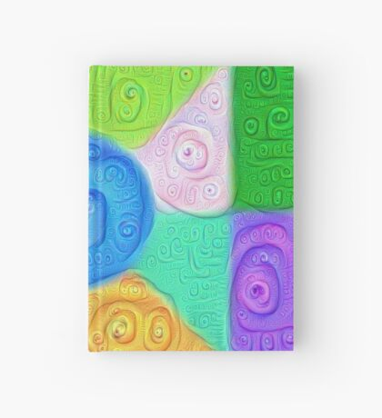 DeepDream Color Squares Visual Areas 5x5K v17 Hardcover Journal