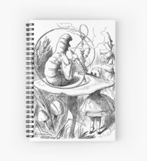 Cannabis and magic mushrooms in wonderland Spiral Notebook