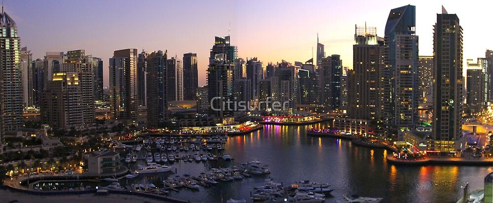 Dubai Marina by Night by Citisurfer