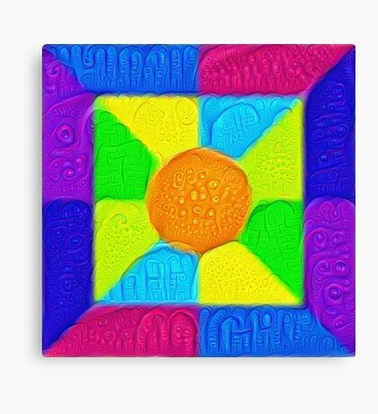 DeepDream Color Squares Visual Areas 5x5K v19 Canvas Print