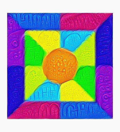 DeepDream Color Squares Visual Areas 5x5K v19 Photographic Print