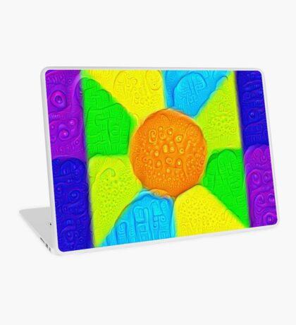 DeepDream Color Squares Visual Areas 5x5K v19 Laptop Skin