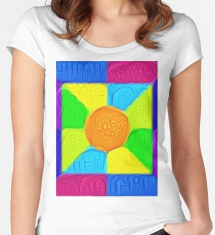 DeepDream Color Squares Visual Areas 5x5K v19 Fitted Scoop T-Shirt