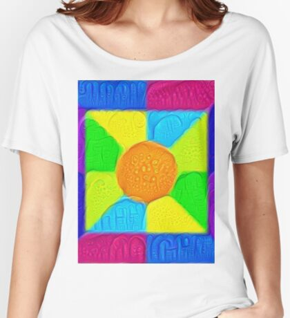 DeepDream Color Squares Visual Areas 5x5K v19 Relaxed Fit T-Shirt