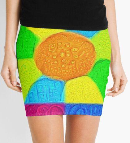 DeepDream Color Squares Visual Areas 5x5K v19 Mini Skirt