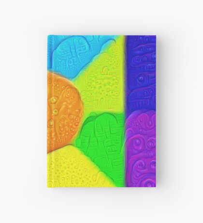 DeepDream Color Squares Visual Areas 5x5K v19 Hardcover Journal