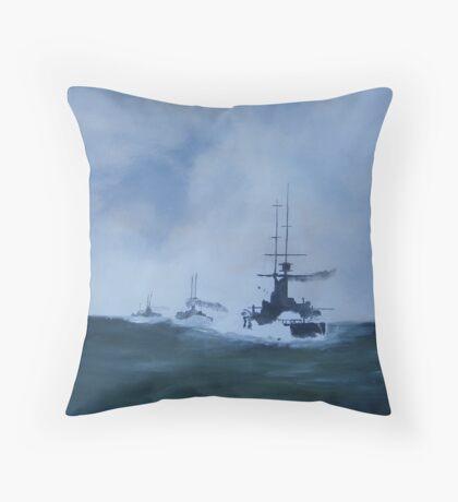 North Sea Convoy/oils Throw Pillow
