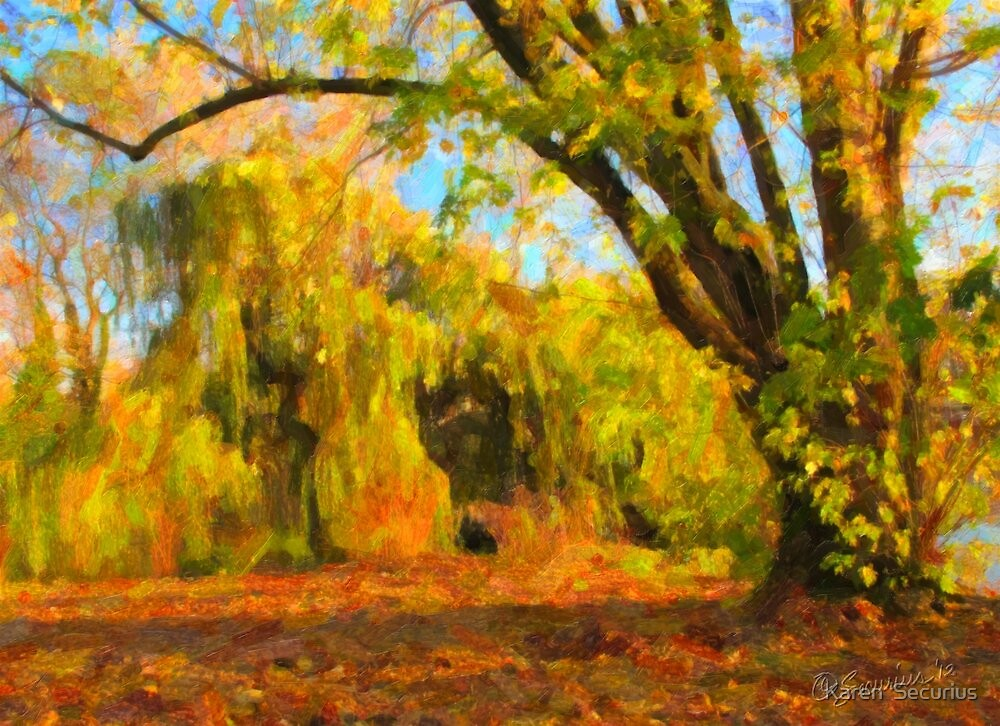 Alster Autumn oil06 by Karen  Securius