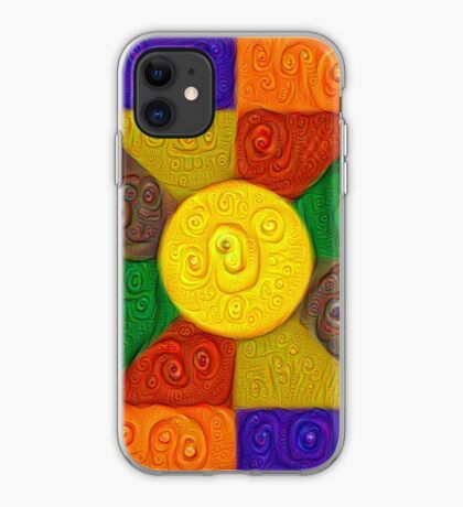 DeepDream Color Squares Visual Areas 5x5K v20 iPhone Case