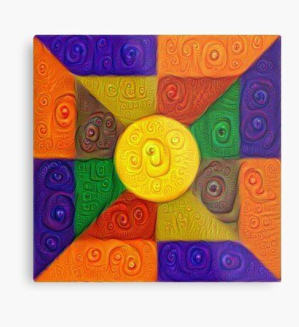 DeepDream Color Squares Visual Areas 5x5K v20 Metal Print