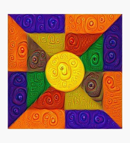 DeepDream Color Squares Visual Areas 5x5K v20 Photographic Print