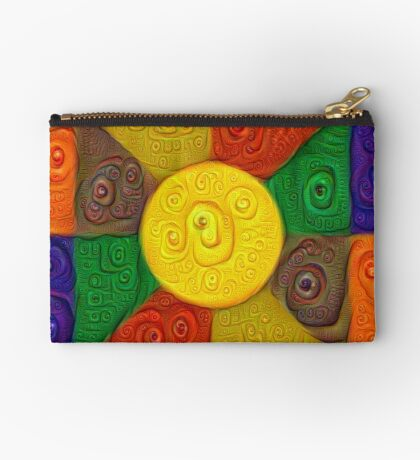 DeepDream Color Squares Visual Areas 5x5K v20 Zipper Pouch