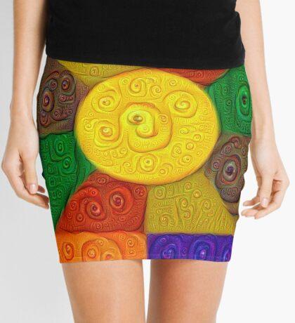 DeepDream Color Squares Visual Areas 5x5K v20 Mini Skirt