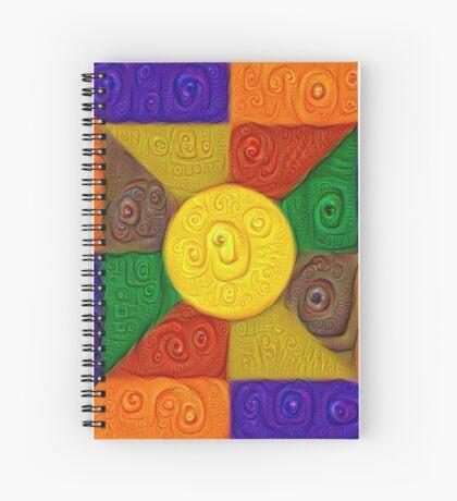 DeepDream Color Squares Visual Areas 5x5K v20 Spiral Notebook