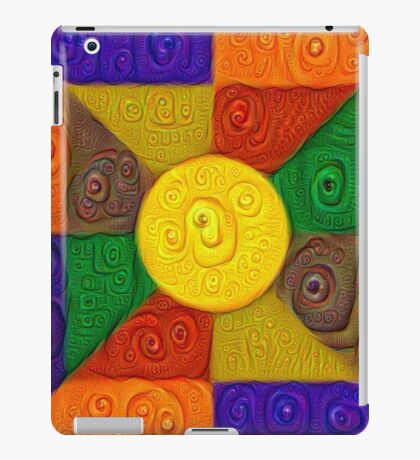 DeepDream Color Squares Visual Areas 5x5K v20 iPad Case/Skin