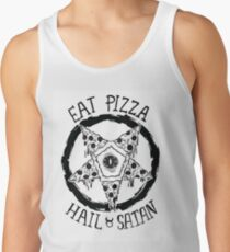 Iss Pizza Hagel Satan Tanktop für Männer