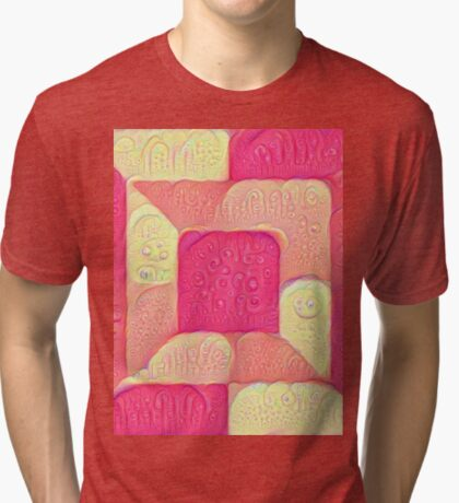 DeepDream Color Squares Visual Areas 5x5K v16 Tri-blend T-Shirt