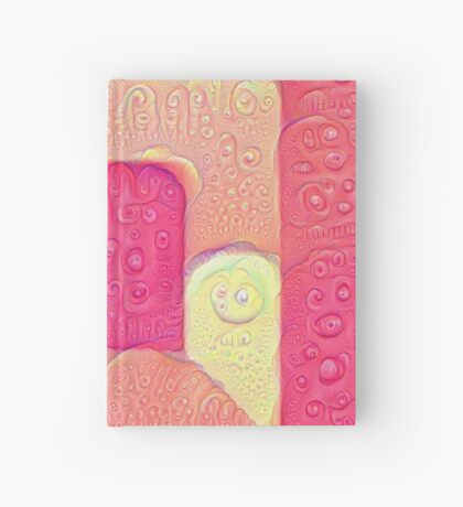 DeepDream Color Squares Visual Areas 5x5K v16 Hardcover Journal