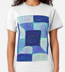DeepDream Color Squares Visual Areas 5x5K v15 Classic T-Shirt