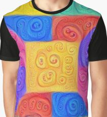 DeepDream Color Squares Visual Areas 5x5K v12 Graphic T-Shirt