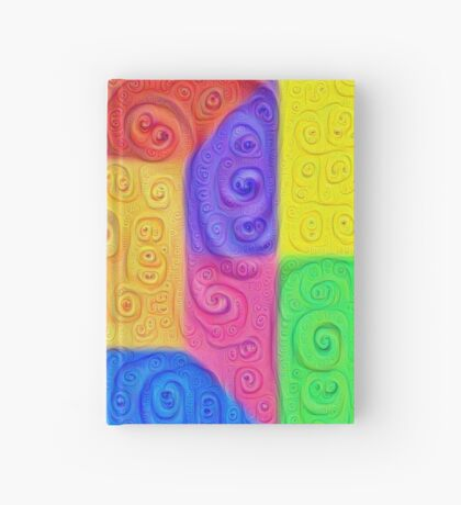 DeepDream Color Squares Visual Areas 5x5K v12 Hardcover Journal