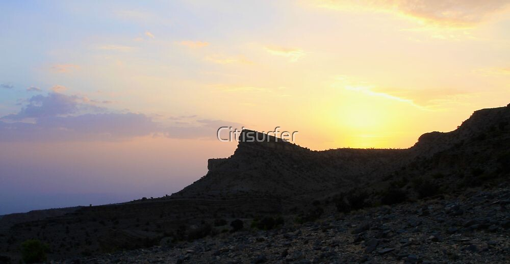 Sunset in the Mountains over Oman by Citisurfer