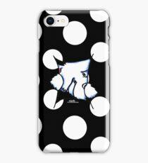 Westie Inside Black Polka Dots iPhone Case/Skin